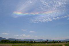 平城宮跡に現れた五色の雲(環水平アーク)2010年5月29日撮影